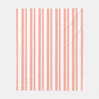 Modern-Classic-Peach-Stripe's_Fleece-S-M-L Fleece Blanket