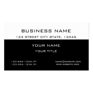 Modern Classic Professional White Black Business Pack Of Standard Business Cards