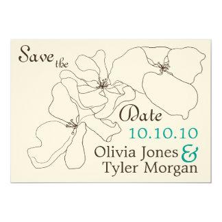 Modern Classic Save the Date 13 Cm X 18 Cm Invitation Card