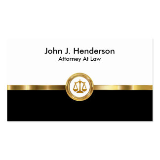 Modern Classy Attorney Pack Of Standard Business Cards