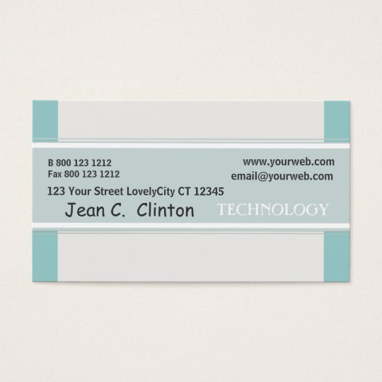 Modern Classy Promotional Pastel Sky Blue Business Card