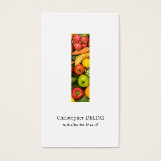Modern Clean Colourful Vegetables Nutritionist Business Card