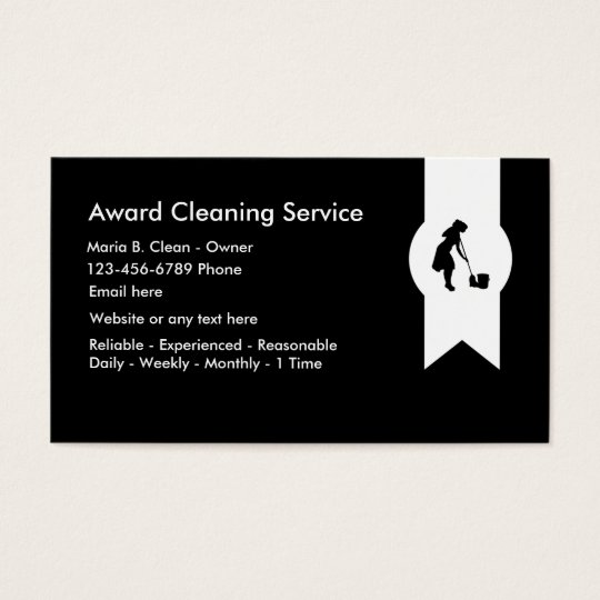 Modern Cleaning Service Business Card