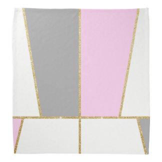 modern clear  elegant faux gold glitter pattern bandana