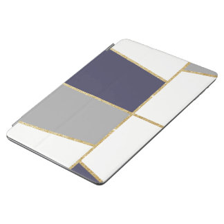 modern clear  elegant faux gold glitter pattern iPad air cover