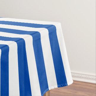 Modern Cobalt Blue Wide Stripe Tablecloth