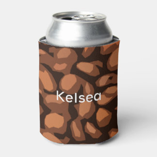 Modern Coffee Beans Personalized Can Cooler