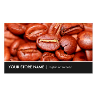 Modern Coffee Beans Store Pack Of Standard Business Cards