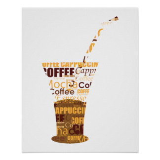 Modern Coffee Illustration Poster