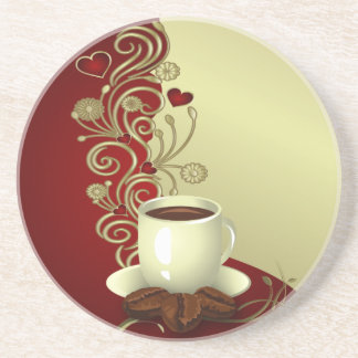 Modern Coffee Lover Drink Coaster
