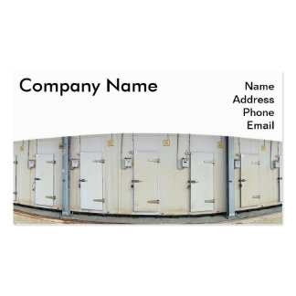 Modern Cold and Freezer Storage Facility Pack Of Standard Business Cards