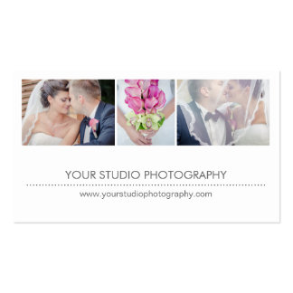 Modern Collage Appointment Reminder Card - White Pack Of Standard Business Cards