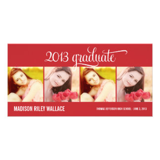 Modern Collage Graduation Announcement Photo Card Custom Photo Card