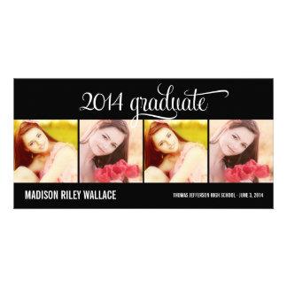 Modern Collage Graduation Announcement Photo Card