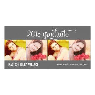Modern Collage Graduation Announcement Photo Card Photo Card