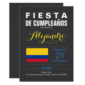 Modern: Colombia Party Card
