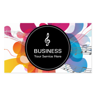 Modern Color Flow Elegant Music Pack Of Standard Business Cards