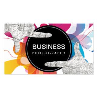 Modern Color Flow Hands Frame Photography Pack Of Standard Business Cards