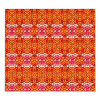 modern colored pattern photographic print