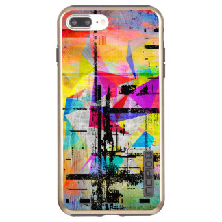 Modern Colorful Abstract Geometric Art Incipio DualPro Shine iPhone 8 Plus/7 Plus Case