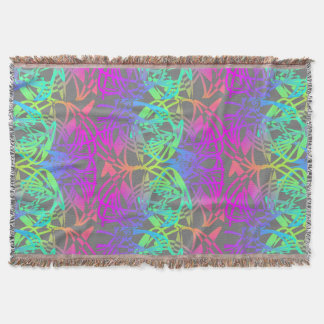 Modern Colorful Abstract Glow Patterned Throw Blanket
