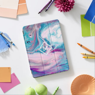 Modern Colorful Abstract Marble Swirls GR5 iPad Air Cover