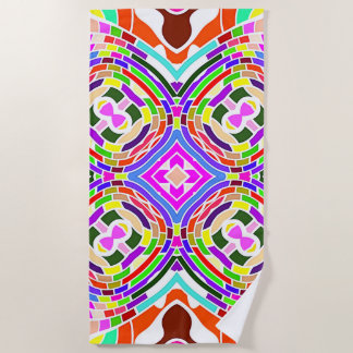 Modern Colorful abstract Pattern Beach Towel