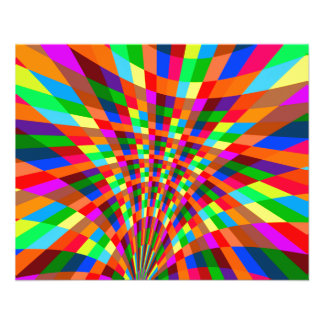 Modern Colorful abstract Pattern colors blue red 11.5 Cm X 14 Cm Flyer