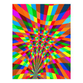 Modern Colorful abstract Pattern colors blue red 21.5 Cm X 28 Cm Flyer