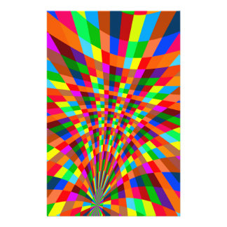 Modern Colorful abstract Pattern colors blue red 14 Cm X 21.5 Cm Flyer