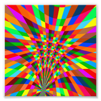 Modern Colorful abstract Pattern colors blue red Photo Print