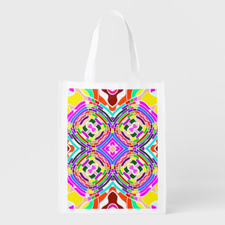 Modern Colorful abstract Pattern Reusable Grocery Bag