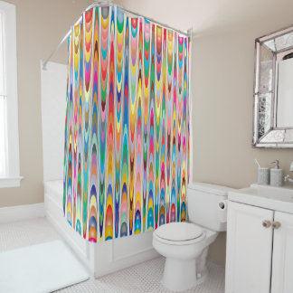 Modern Colorful Abstract Pattern Shower Curtain