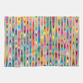 Modern Colorful Abstract Pattern Tea Towel