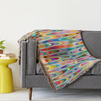 Modern Colorful Abstract Pattern Throw Blanket