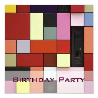 Modern Colorful Birthday Party 2 Invitation