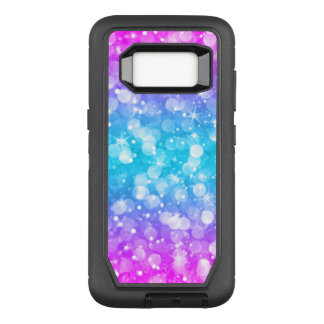 Modern Colorful Bokeh Glitter OtterBox Defender Samsung Galaxy S8 Case