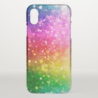 Modern Colorful Bokeh Glitter Print iPhone X Case