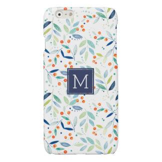 Modern Colorful Botanical Watercolors Illustration iPhone 6 Plus Case