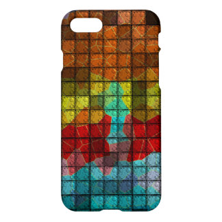 Modern colorful brick pattern iPhone 8/7 case