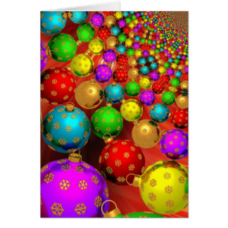 Modern Colorful Christmas Ornaments Card