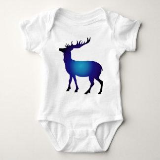 Modern colorful deer baby bodysuit