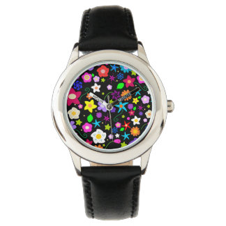 Modern Colorful Floral pattern Watch