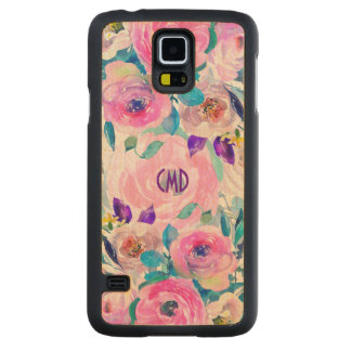 Modern Colorful Flowers Collage GR7 Carved Maple Galaxy S5 Case