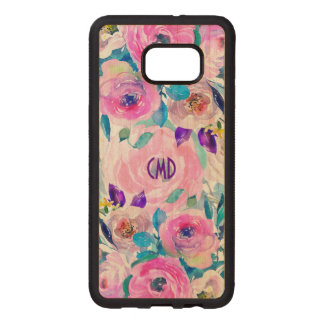 Modern Colorful Flowers Collage GR7 Wood Samsung Galaxy S6 Edge Case