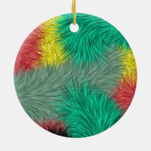 Modern colorful furry art ornament