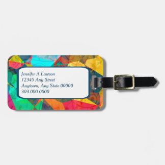 Modern Colorful Geometric Abstract Bag Tag