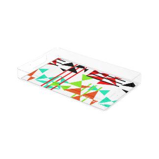 Modern Colorful Geometric Design Acrylic Tray