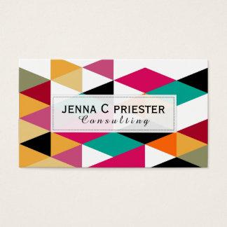 Modern Colorful Geometric Pattern Business Card
