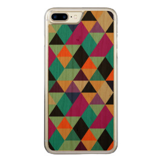 Modern Colorful Geometric Triangles Pattern 2b Carved iPhone 8 Plus/7 Plus Case
